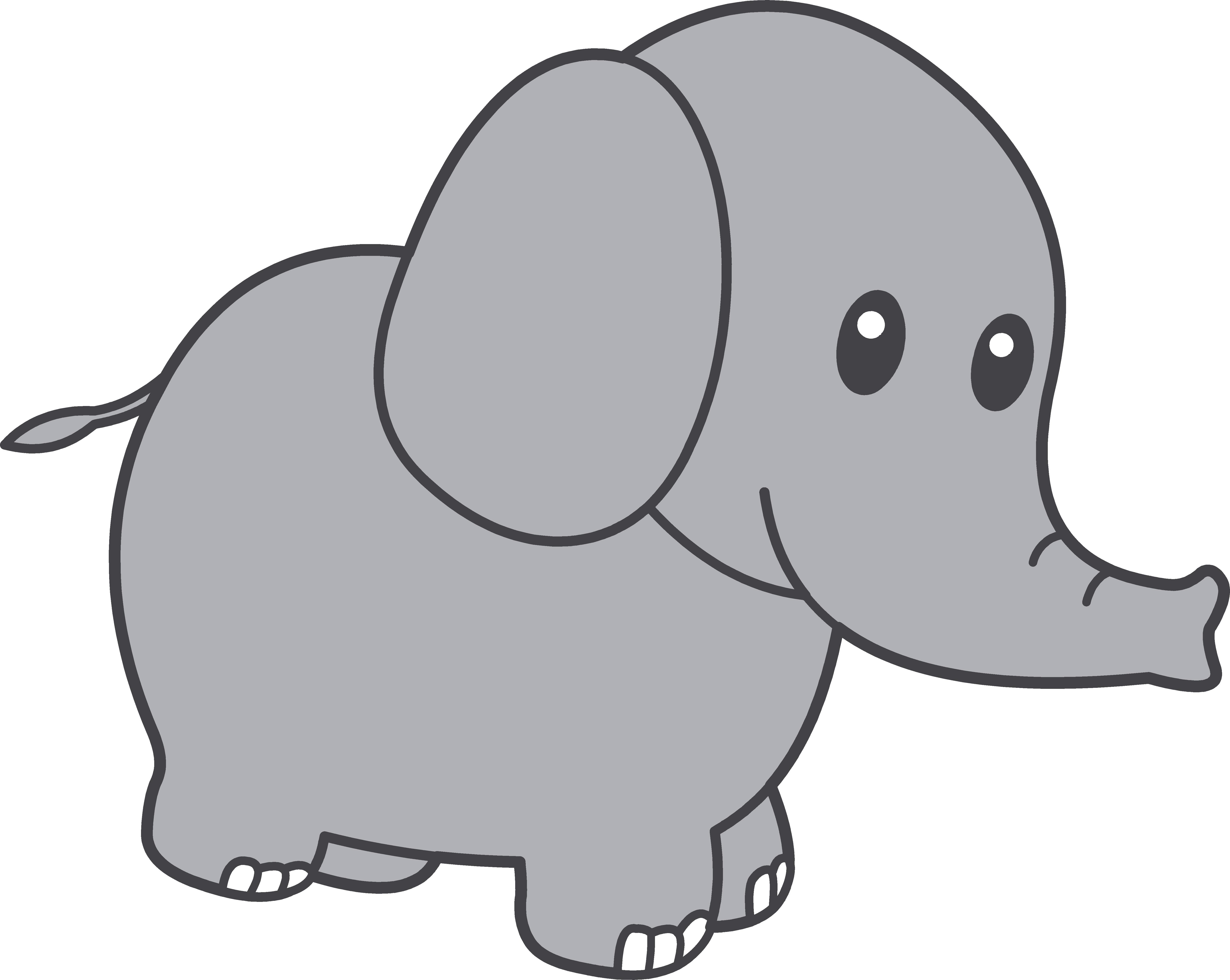 6062x4830 Elephant Clipart Free