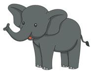 195x146 Free Elephant Clipart