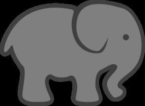 297x216 Gray Elephant Cliparts