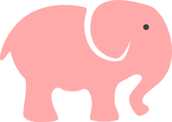 600x427 Grey Elephant Mom Amp Babypink Clip Art