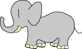 329x200 Image Of Baby Elephant Clipart