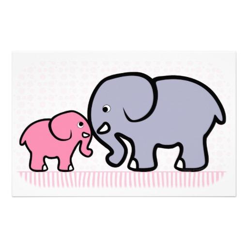 512x512 Mama And Baby Elephant Clip Art