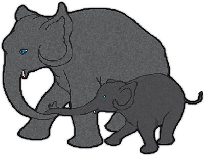 401x306 Mammal Clipart Elephant Calf