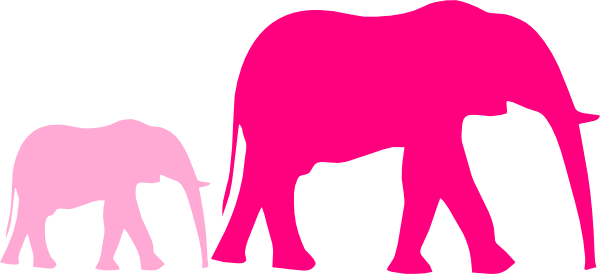 600x274 Mommy Clipart Baby Elephant