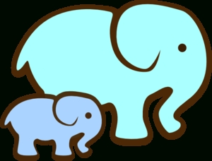 300x228 Mother And Baby Elephant Clipart Letters Example