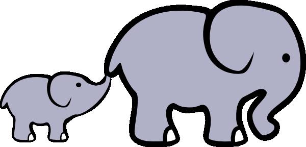 600x288 Baby Elephant And Adult Elephant Clip Art