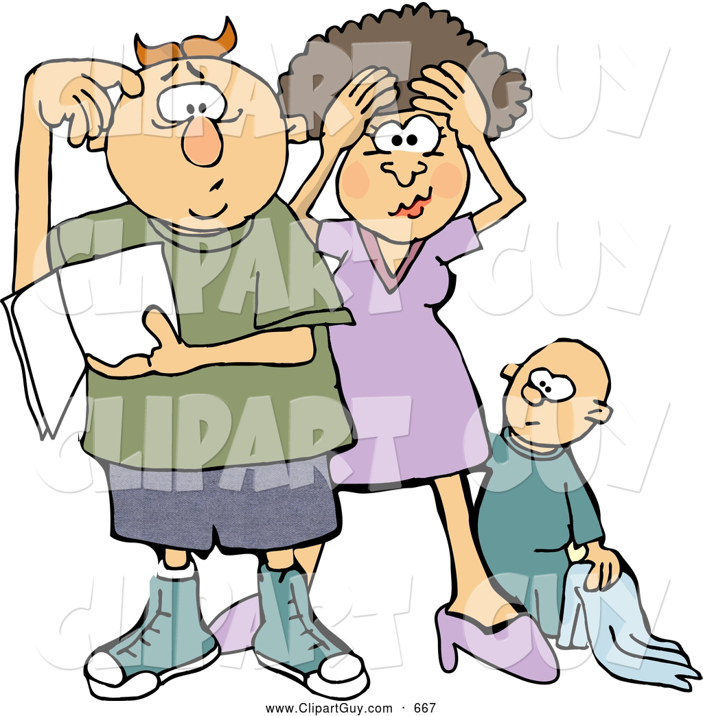 1024x1044 Clip Art Of Afrustrated New Mom And Dad Trying To Figure Out How
