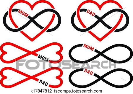 450x317 Clipart Of Love Mom, Dad, Vector Set K17847812