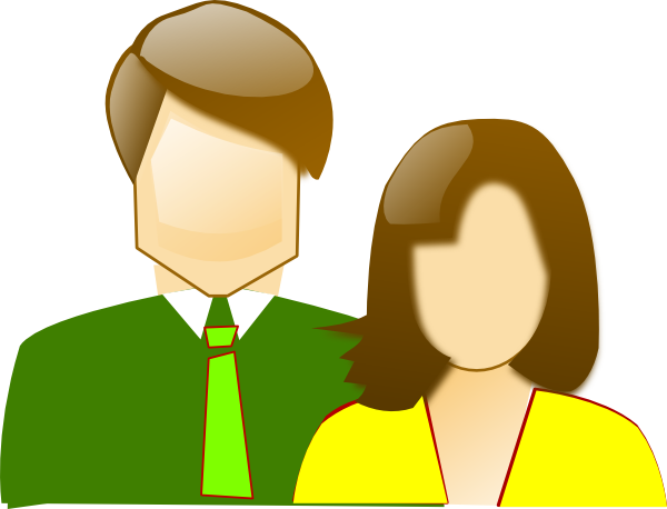 600x458 Mother And Father Clip Art
