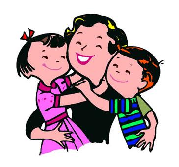 365x340 Mommy Clipart Mom Hug