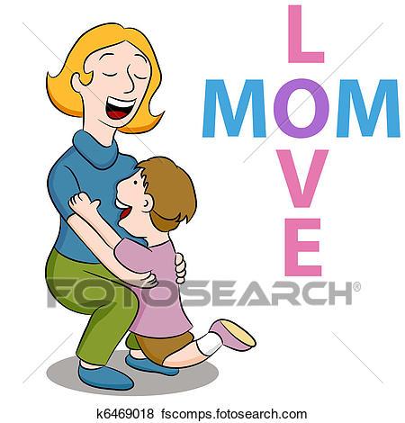 450x470 Clip Art Of Mom Love Son K6469018