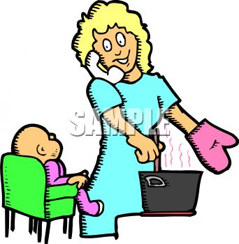 342x350 Mommy Clipart Busy Mom