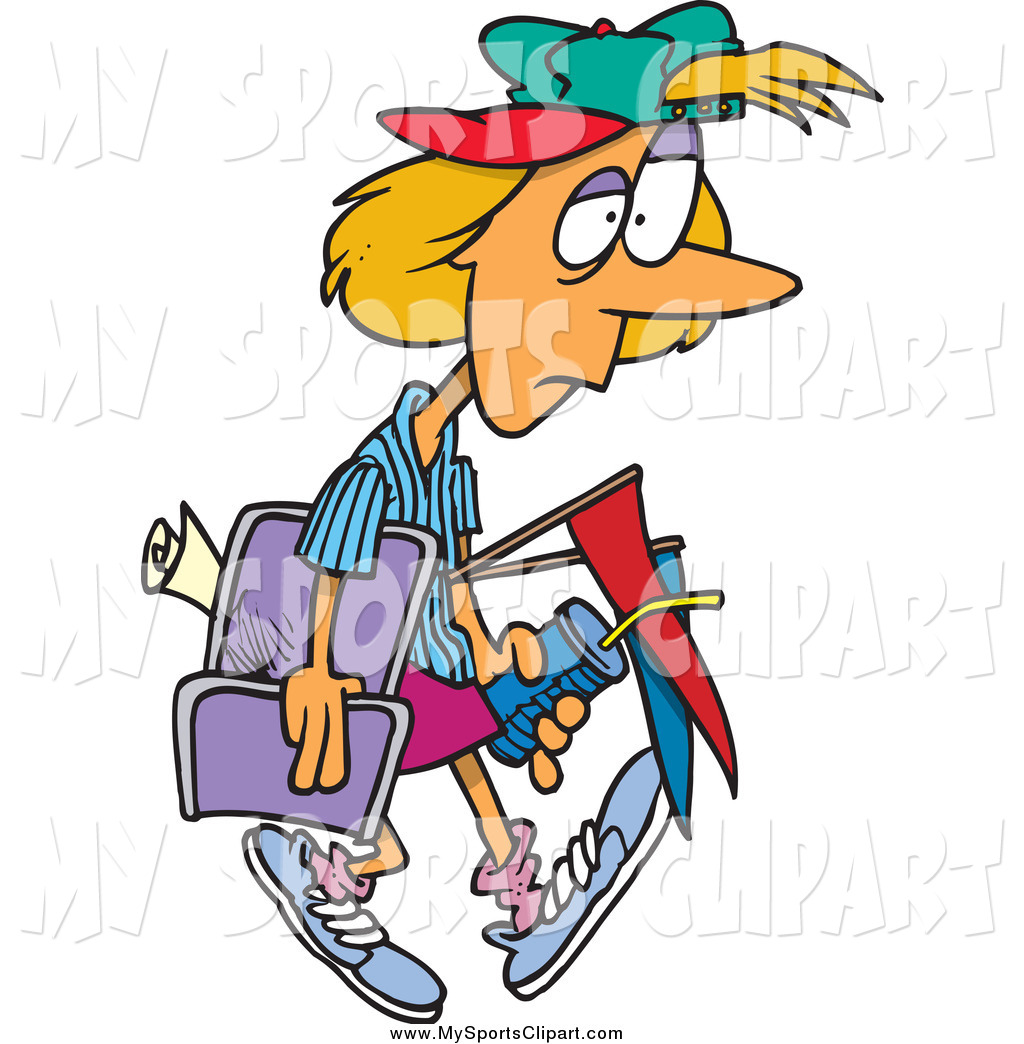 1024x1044 Sports Clip Art Of A Cartoon Exhausted Soccer Mom By Toonaday