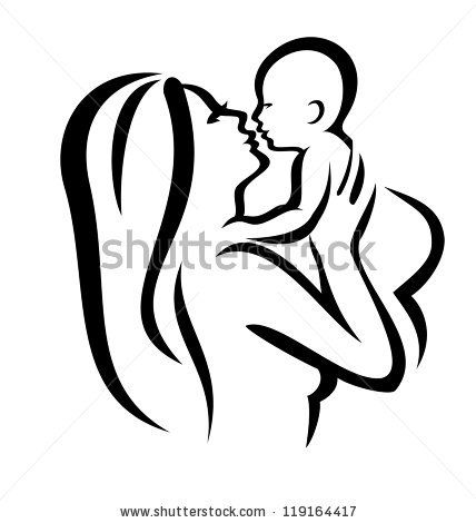 Mommy And Baby Clipart