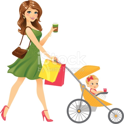 414x413 Mommy Clipart Stroller
