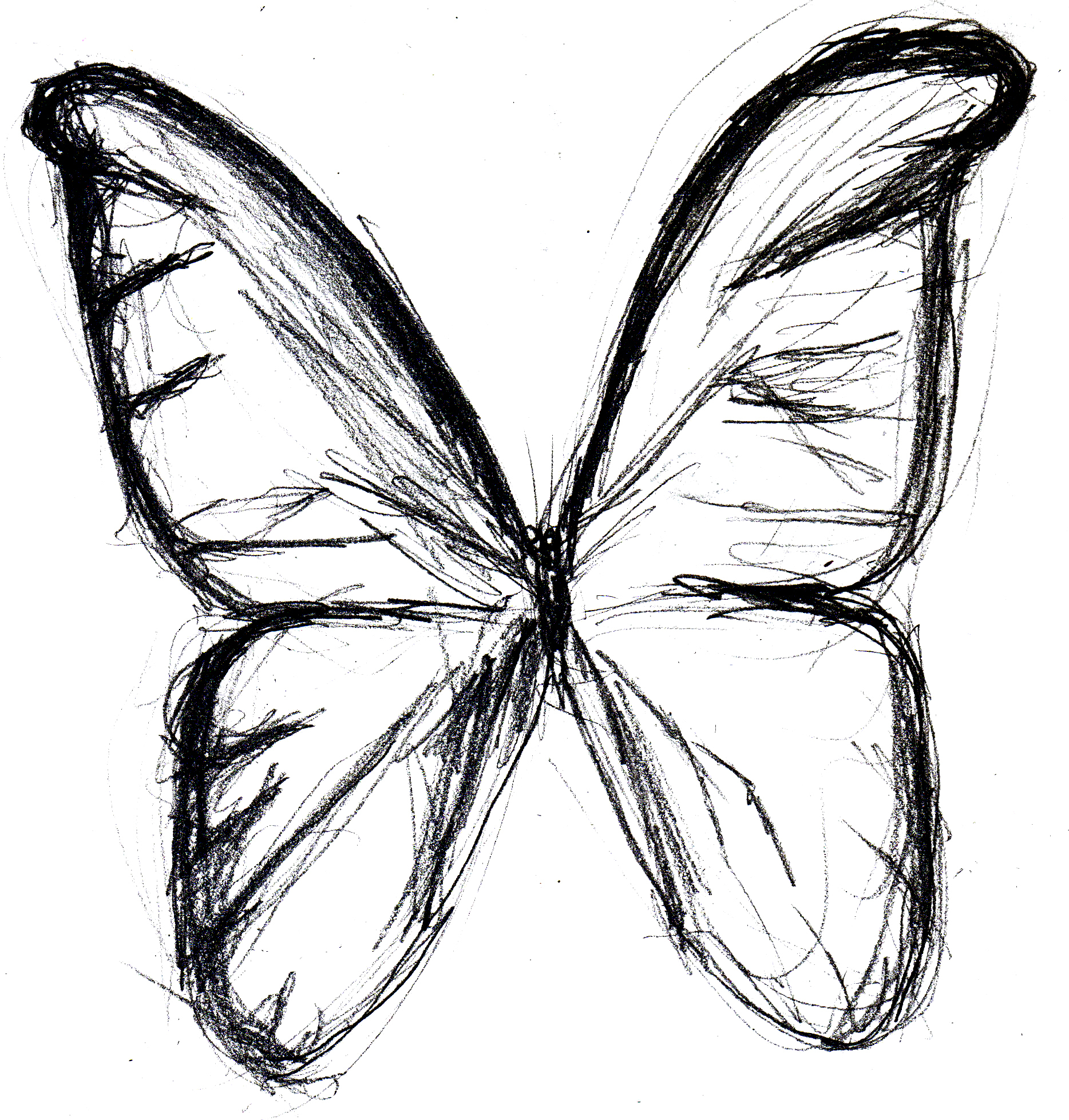 1868x1957 Butterfly Hd Sketch Drawing Butterfly Monarch 2d How To Sketch