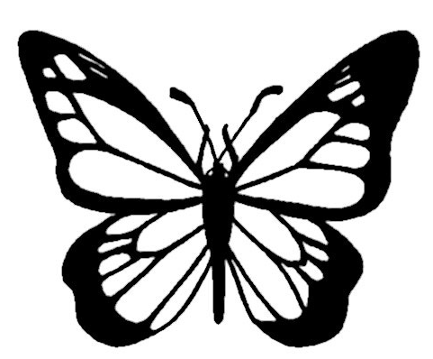 481x398 Monarch Butterfly Coloring Pages Line Drawings Online Monarch