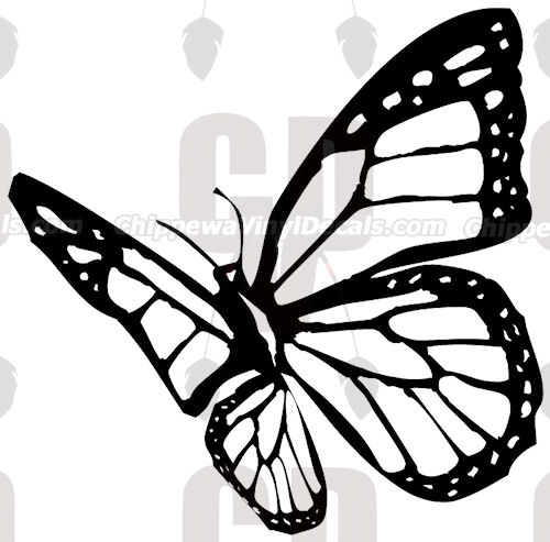 500x493 Monarch Butterfly Decal Bf1015