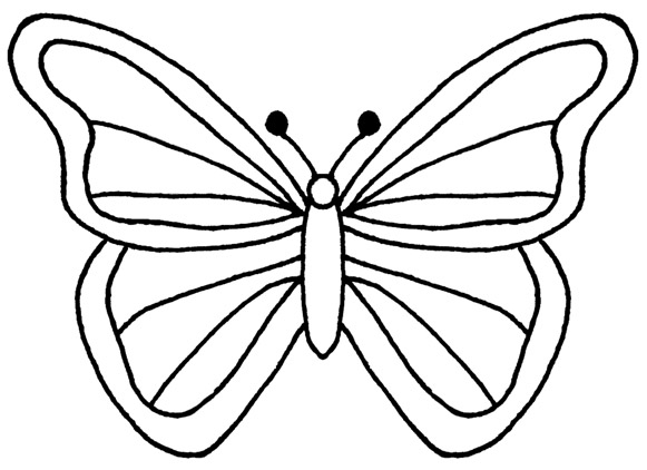 581x422 Monarch Butterfly Outline