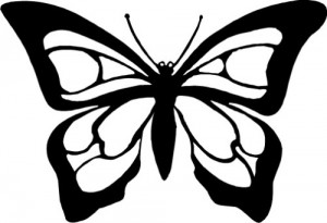 300x205 Monarch Butterfly Clipart Black And White Clipartfest 6