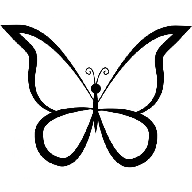 626x626 Butterfly Outline Design From Top View Icons Free Download