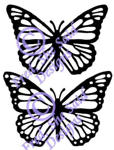 400x526 Fred, She Said Designs The Store Monarch Buttterfly Digi