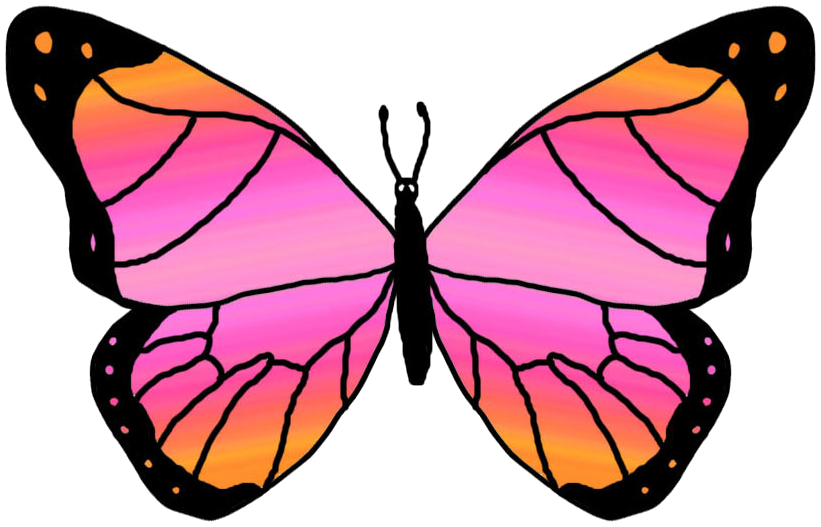 821x527 Monarch Butterfly Clipart Two