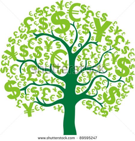 450x470 Clipart Money Tree