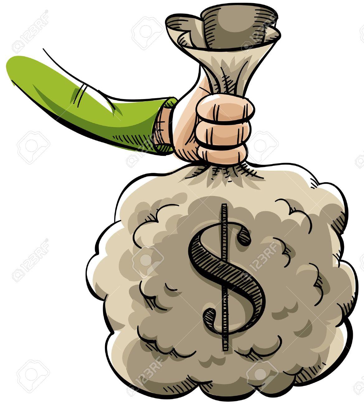 Money Bag Cartoon Clipart