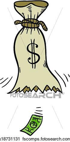 234x470 Clipart Of Empty Money Bag K18731131