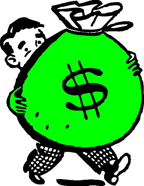 462x594 Green Money Bag Clip Art