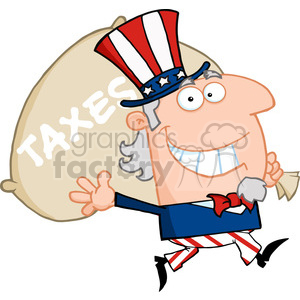 300x300 Royalty Free 102523 Cartoon Clipart Uncle Sam Runsndarries