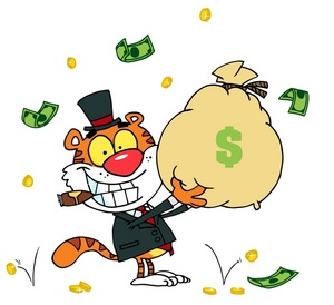 300x274 Wealthy Clipart Image