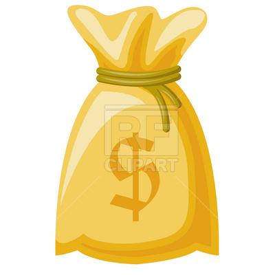 400x400 Money Sack Royalty Free Vector Clip Art Image