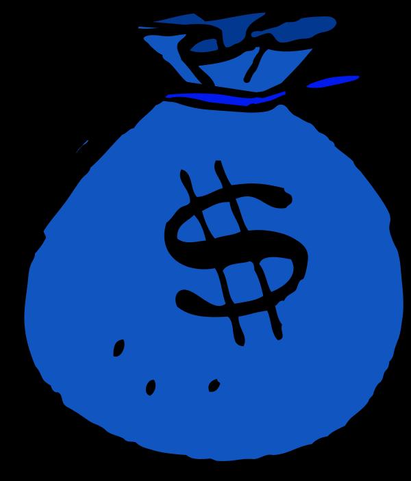 600x703 Blue Clipart Money
