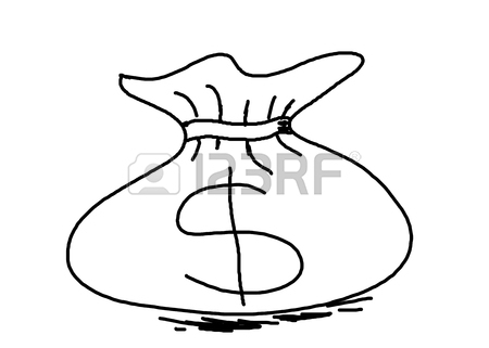 450x321 Hand Drawing Money Bag With Dollar Sign Concept Idea For Business