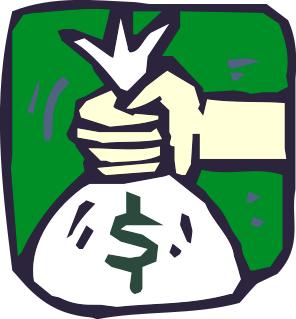 296x319 Money Bag In Hand Clip Art Download