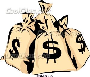 300x258 Money bags Vector Clip art