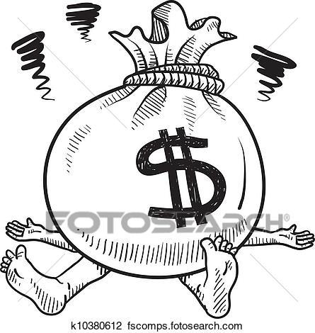 445x470 Clip Art of International Money Bags k3975059