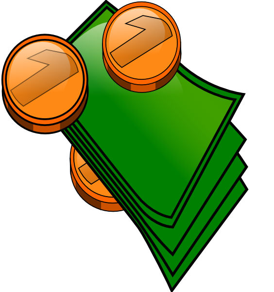 564x600 Money Coins And Bills Clip Art
