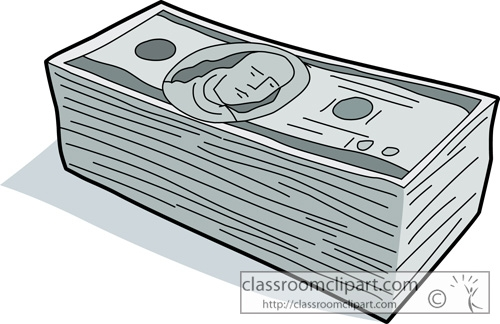500x324 Stack Of Bills Clipart