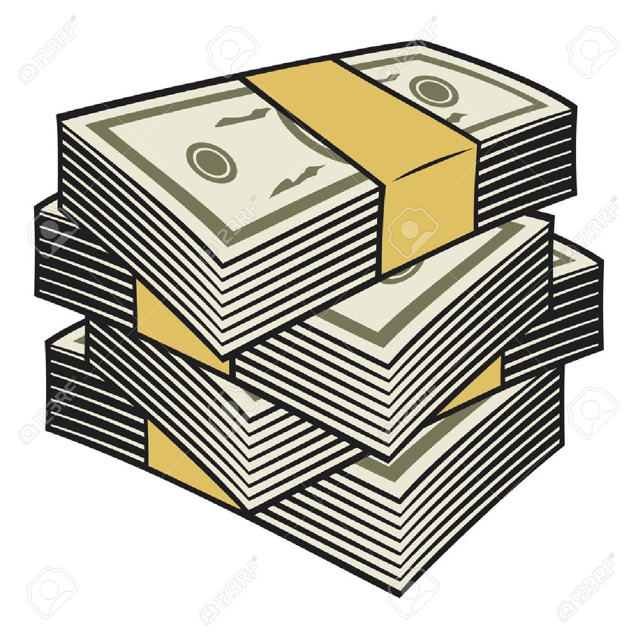 1300x1300 Stack Of Money Clipart 101 Clip Art