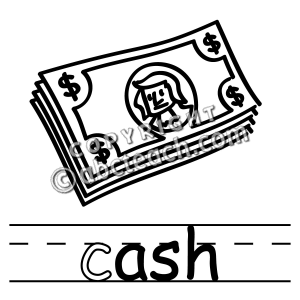 300x300 Cash Clipart Black And White