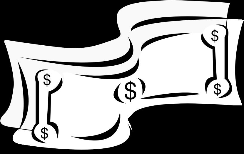 830x523 Money Clipart Black And White
