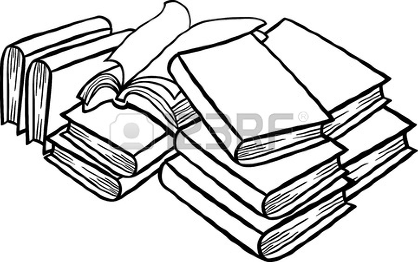 1350x846 Books Black And White Clipart