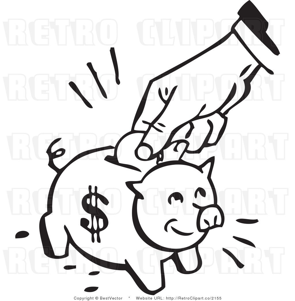 1024x1044 Piggy Bank Black And White Collection