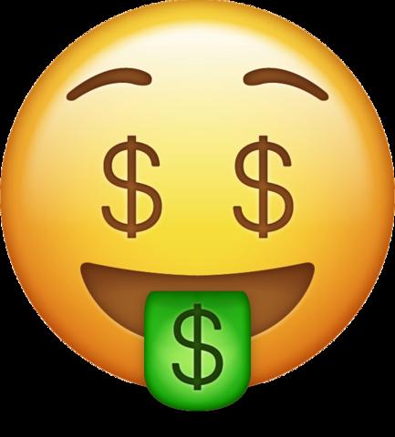 433x480 Money Emoji Png Transparent Background