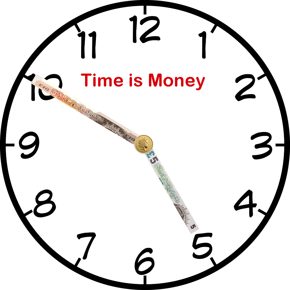 958x958 Time Is Money Transparent Background