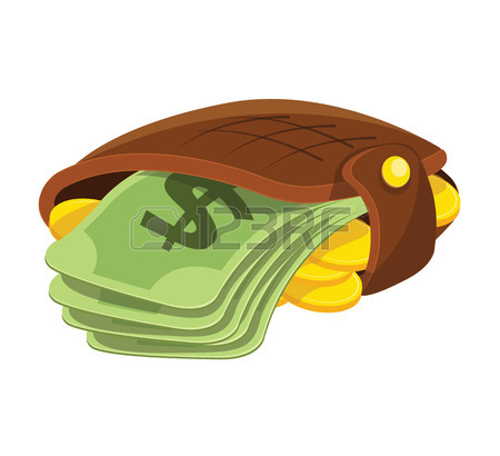 450x410 Wallet And Money Isometric 3d Icon On Transparent Background
