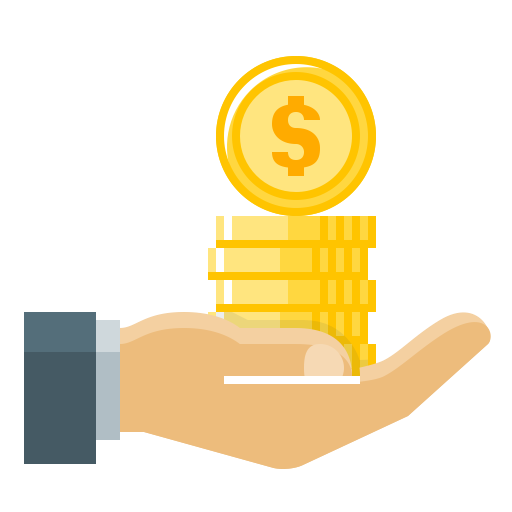 512x512 Hand, Money, Coins, Loan, Cash Out, Loan Money Icon